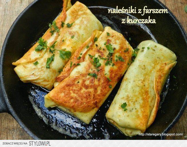 Naleśniki z farszem z kurczaka :) składniki: 200 g goto… na Stylowi.pl