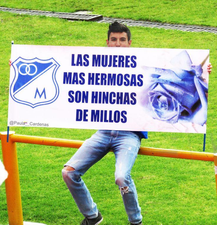 Hinchas,Millonarios,Millonarios fc,Millos,Bogotá,Colombia,Cartel,Mujeres,Hermosas,Mujer