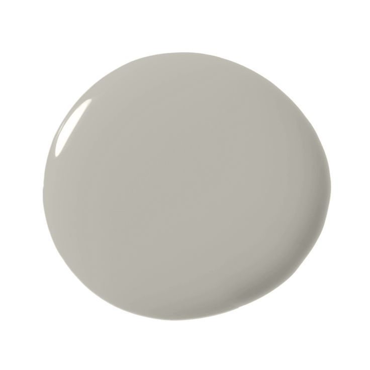 "Benjamin Moore La Poloma Gray 1551  ""The warm quality can have a brownish stone undertone that pairs well with white."" - Highlyann Krasnow"
