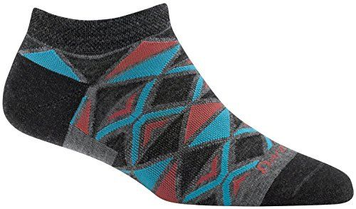 Darn Tough EL Sarape No Show Light Sock - Women's  Built Every Bit As Tough As All Our Hike, Vertical And Running Socks.  Merino Wool Delivers All-Season Comfort In Both Cold And Warm Weather.  Fine Gauge Knitting. Less Bulk. Superior Fit.  Still made in Vermont, USA  Still unconditionally guaranteed for life.