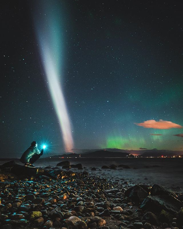 Northern Lights over Vancouver, British Columbia, Canada | This pin was curated by @theblondeabroad for @explorecanada