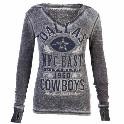 Dallas Cowboys Women's Gray Pinehaven Thermal V-Neck Shirt