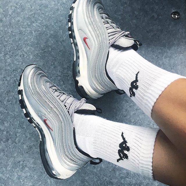 Silver  #nike #airmax #airmax97 #airmax97silver #silver #socks #kappa #female #swoosh