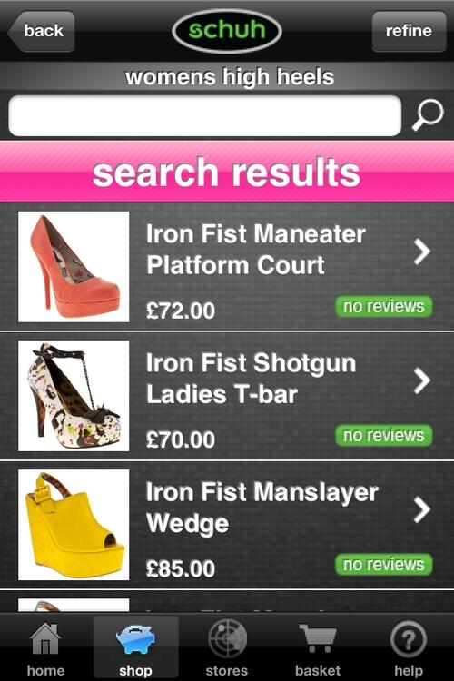 #schuh #iphone #productlist