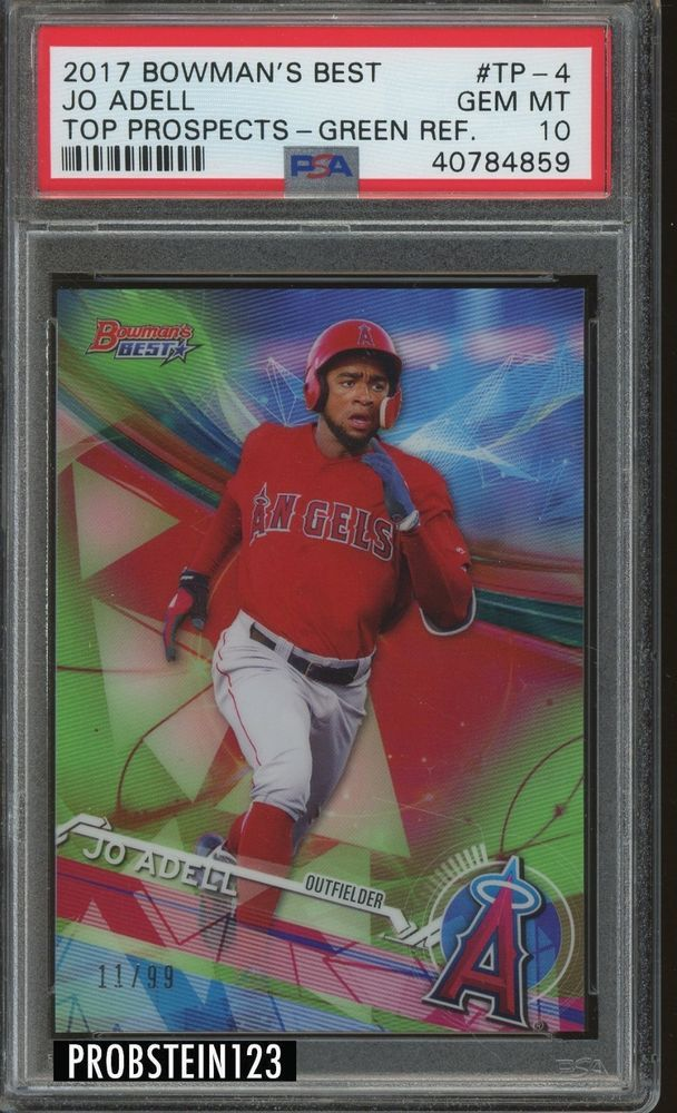 2017 Bowmans Best Green Refractor Jo Adell Angels Rc Rookie 1199