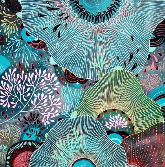 Melting Floral Artwork  Yellena James' Etsy Creates a Brilliant Wonderland of Colors