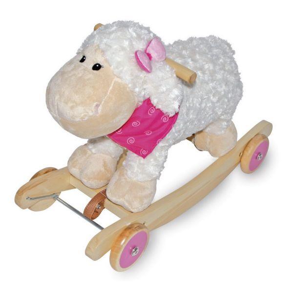 Base Toys hobbeldier Schaap  Met de Base Toys hobbeldier Schaap kan uw kindje hobbelen en rijden. Doordat de wielen eenvoudig uit te klappen zijn kan dit hobbelschaap ook als loopauto gebruikt worden. Het ideale speelgoed voor de kleintjes in de groei, eerst hobbelen en vervolgens kan de ontwikkeling in het lopen goed getraint worden.