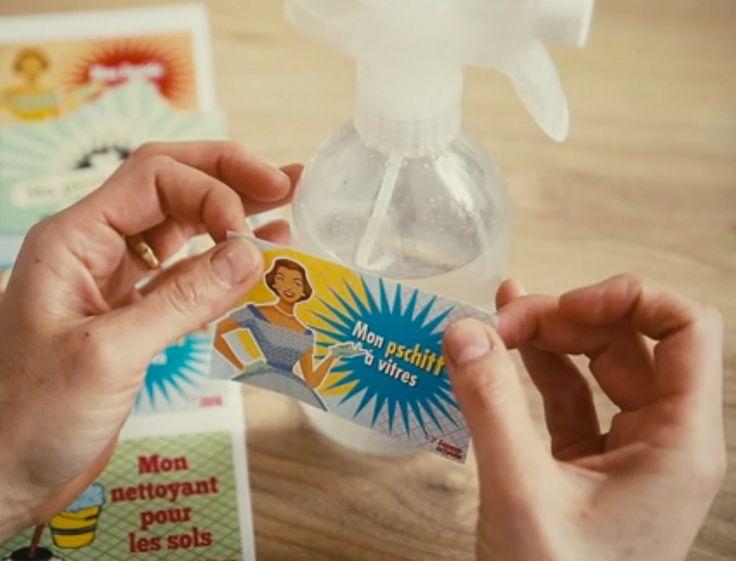 A l'heure du grand ménage de printemps, on vous propose de customiser vos produits ménagers fait-maison avec nos jolies étiquettes… à imprimer gratuitement...