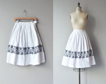 Pattern Mix skirt vintage 1950s skirt printed by DearGolden