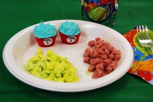 Thing 1 Thing 2 cupcakes: Birthday Parties, Seuss Ideas, Seuss Food, Dr. Seuss, Cupcakes Rosa-Choqu