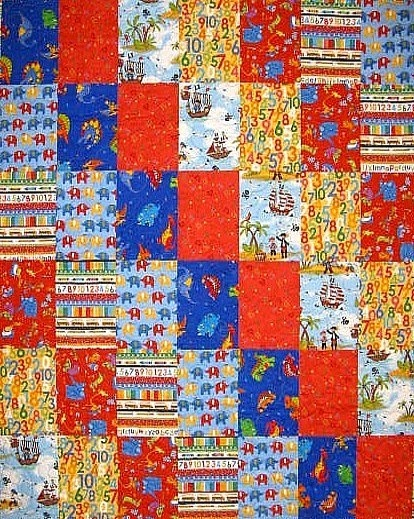 Bricks Quilt Boys Quilt 1