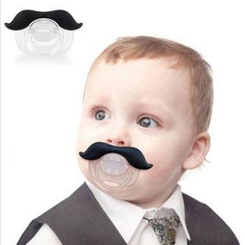 1 stuks baby-grappige dummy prank snor fopspeen tanden kinderen kind speen tepel gratis verzending