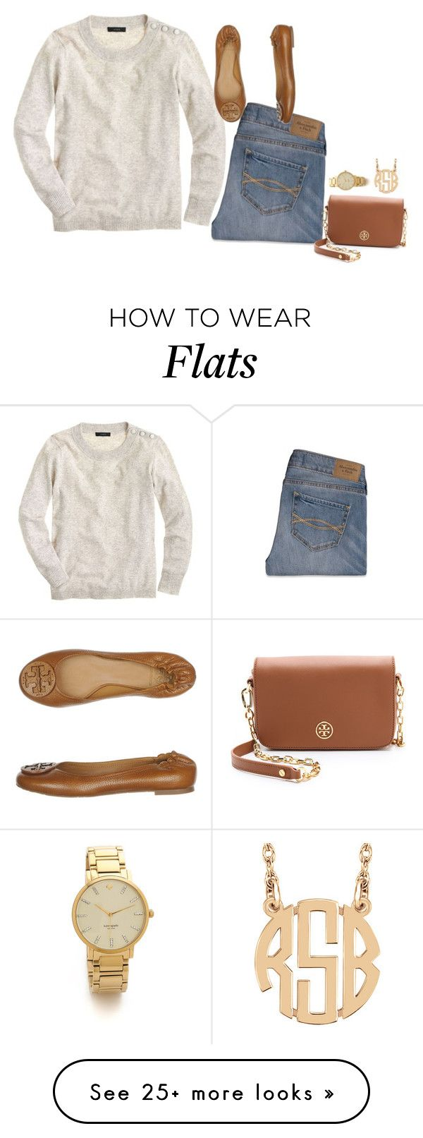 """Untitled #685"" by sassy-and-southern on Polyvore featuring J.Crew, Abercrombie & Fitch, Tory Burch, Kate Spade and sassysouthernwinter"