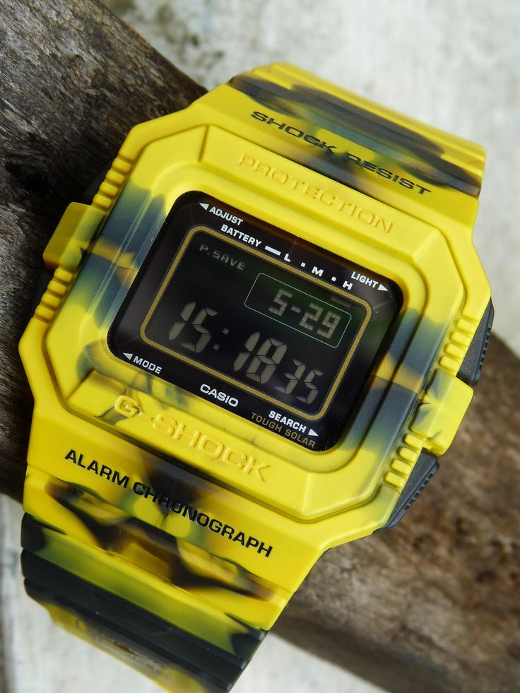 G Shock G-5500JC-9 Camo snake yellow