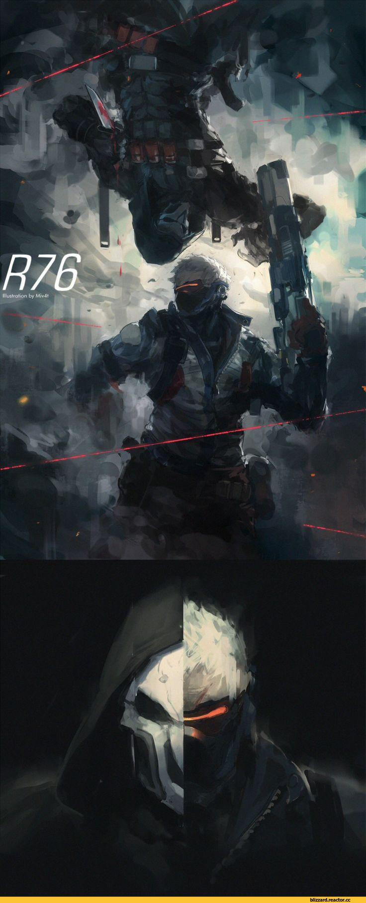 Overwatch,Blizzard,Blizzard Entertainment,фэндомы,Miv4t,Reaper (Overwatch),Soldier 76,Overwatch art
