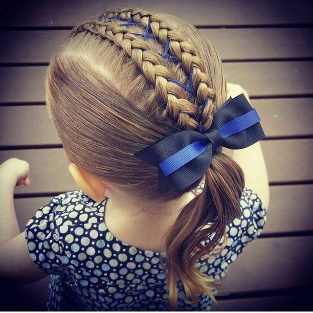 A repost of our #thinblueline hair for another sad day for #lawenforcement . 😢😢😢 #hairbyhodi #westandwithbatonrouge #bluefamily #violenceisnottheanswer #stopthehate #stopkillingcops #bluelinefamily #toddlerhair #toddlerhairideas #toddlerhairstyles