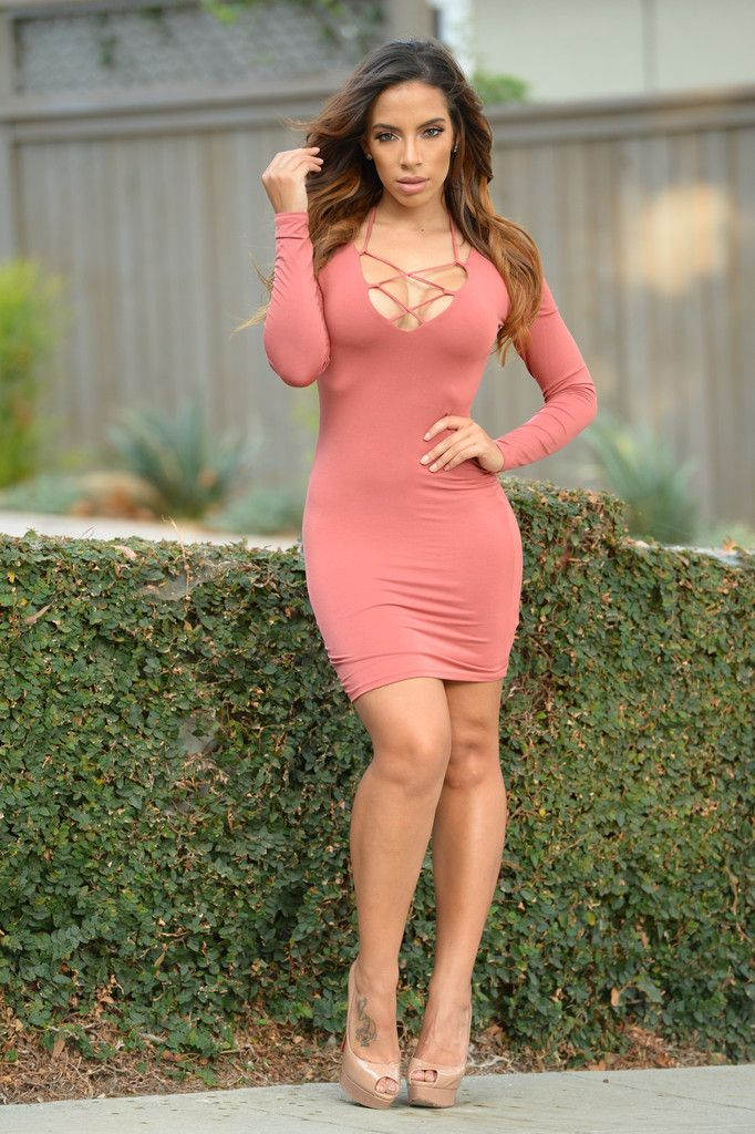 Lattice Dress - Salmon | Fashion Nova | Dresses | Dresses ...