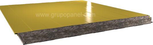 Panel sándwich fachada resistente al fuego con clasificaciones desde 60 minutos a 120 minutos, fijación oculta, caras metálicas prepintadas y núcleo de lana de roca.