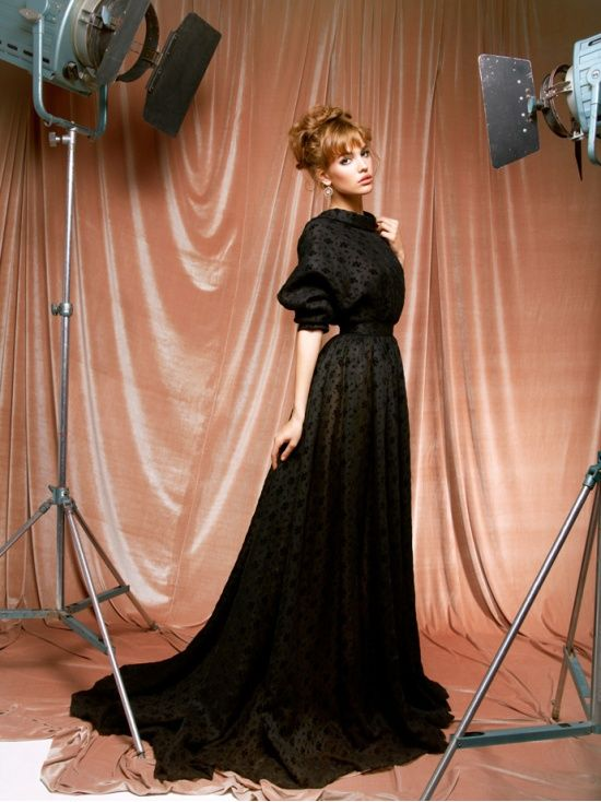 : Black Lace, Maxi Dresses, Full Skirts, 2012 Dresses, Spring Summ, Half Sleeve, 2012 Lookbook, Sergeenko 2012, Ulyana Sergeenko