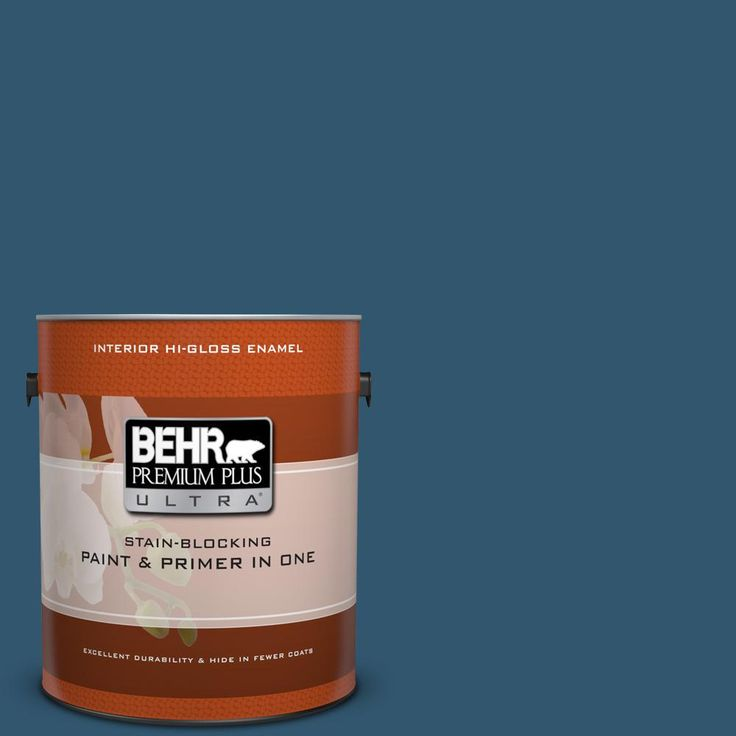 BEHR Premium Plus Ultra 1 gal. #S-H-540 Quiet Storm High-Gloss Enamel Interior Paint