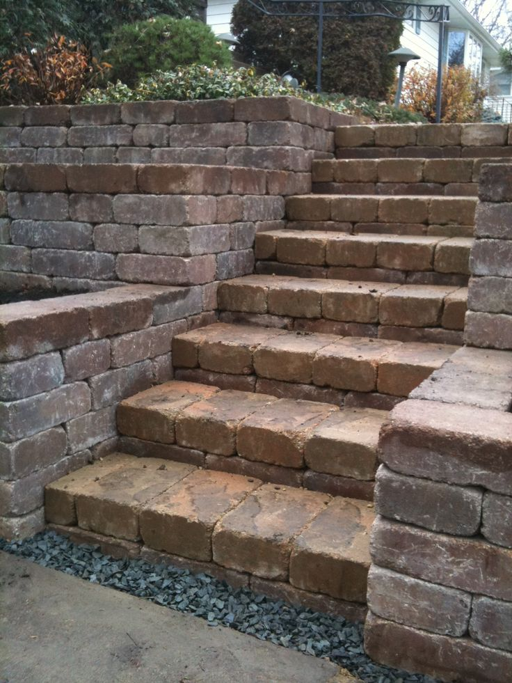 Great steps with tiered retaining walls for gardening for Easy gardens to maintain