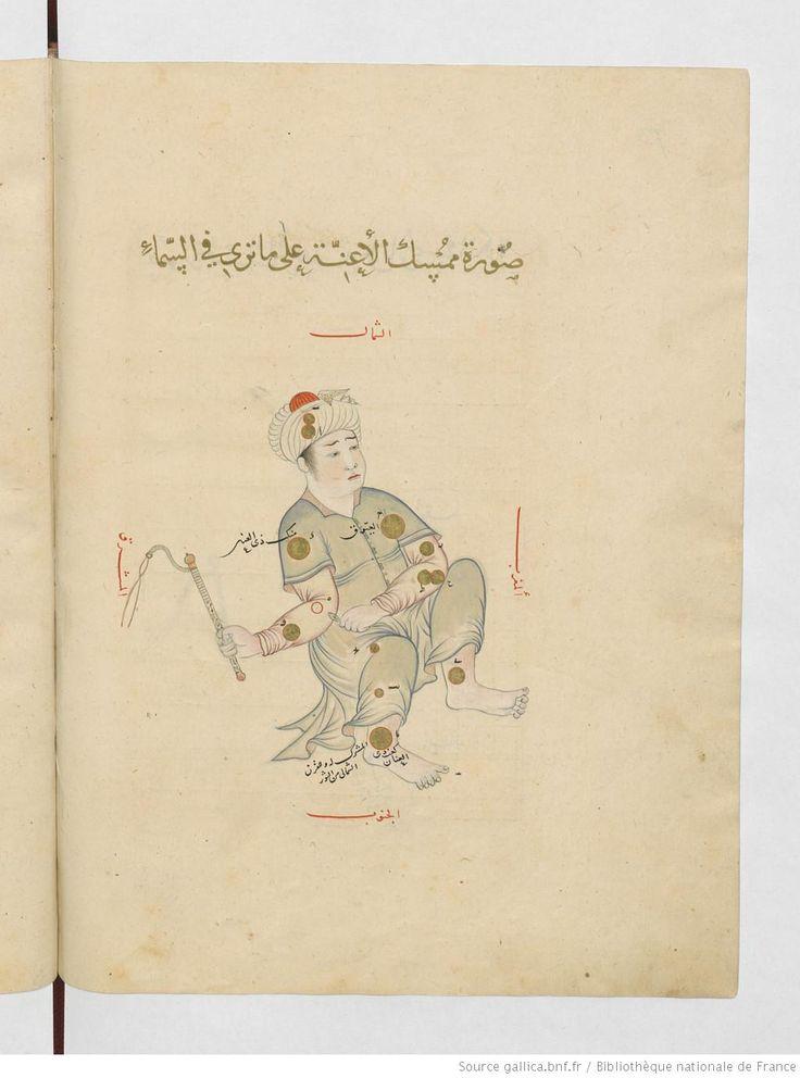 Auriga (mumsik al-a'innah), the charioteer. (Constellations of the northern hemisphere). عبد الرحمن بن عمر الصوفي . كتاب صور الكواكب الثابتة