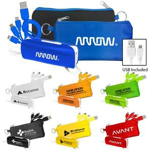 PowerBank & Cord Set Tech  Bar Mitzvah or Bat Mitzvah Party Favor, Giveaway, Event Giveaway, Branded Promo