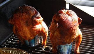 #Poulet sur canette au barbecue #recettesduqc #BBQ