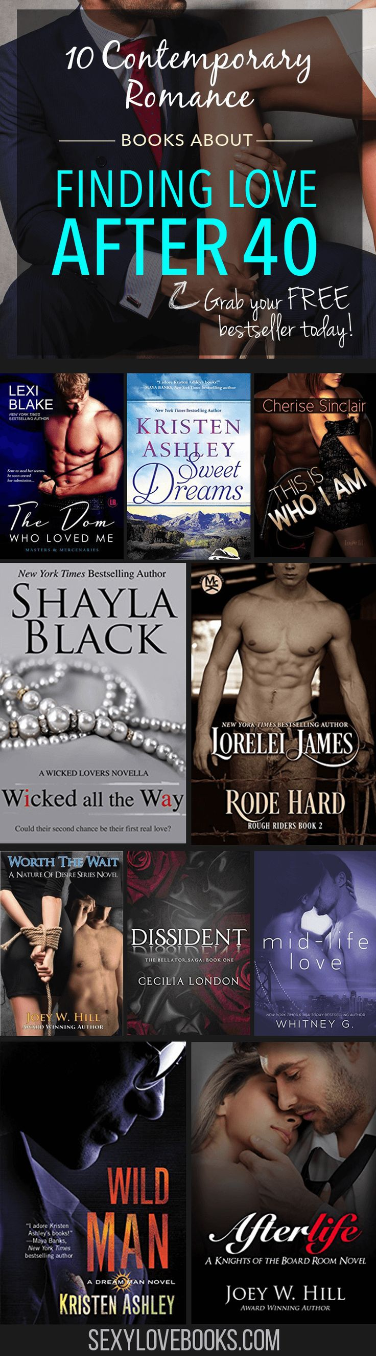 Love hot romance novels but tired of the same twenty-something characters? Add these 10 novels to your reading list ❤ Get more at www.sexylovebooks.com by @swedenreese