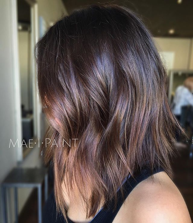 Textured lob & chocolate tones #maeipaint                                                                                                                                                                                 More