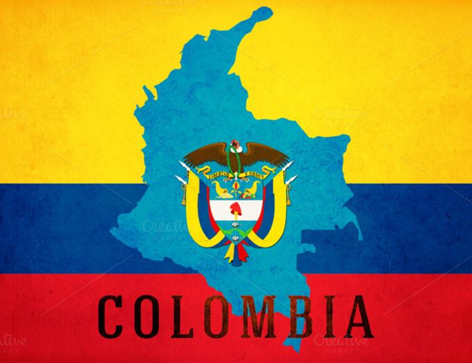 Colombia poster | Great for Spanish classrooms  Showcase the crest, colors and flags of Spanish-speaking countries with these posters, available in 8.5 x 11, 11 x 17 and other sizes by request (hi@natalievenuto.com)