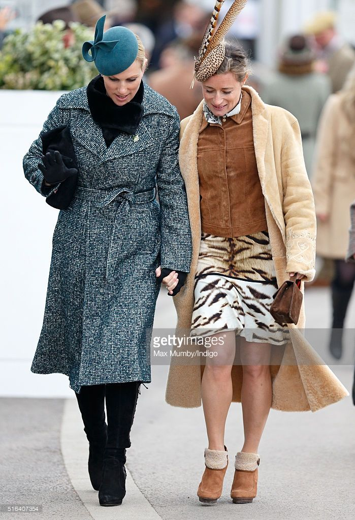 (EMBARGOED FOR PUBLICATION IN UK NEWSPAPERS UNTIL 48 HOURS AFTER CREATE DATE AND TIME) Zara Phillips and Dolly Maude walk hand in hand as they attend day 4, Gold Cup Day, of the Cheltenham Festival on March 18, 2016 in Cheltenham, England. (Photo by Max Mumby/Indigo/Getty Images)