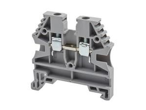Electrical terminal,screw type,single deck feed through terminal block