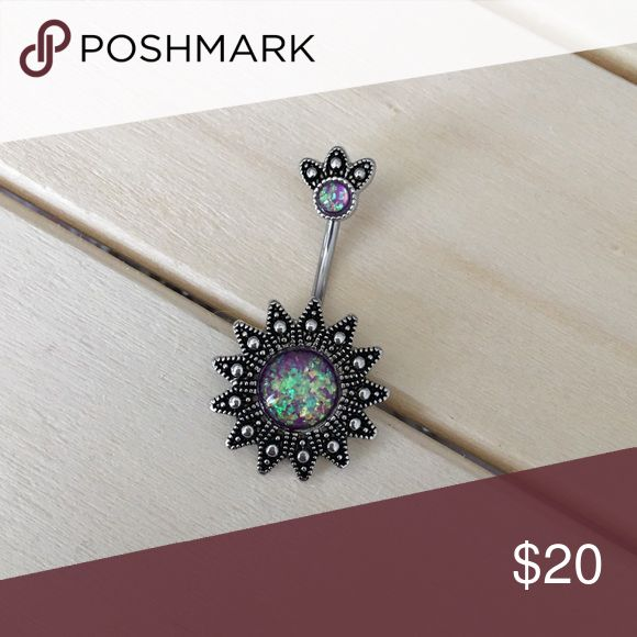 Selling this Purple Opal Sun Belly Button Ring on Poshmark! My username is: vanessag65. #shopmycloset #poshmark #fashion #shopping #style #forsale #Jewelry