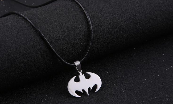 Batman Bat Silver Necklaces