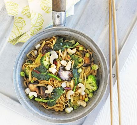 Shiitake mushrooms give a 'meaty' texture and flavour to this healthy stir-fry