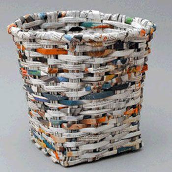 Manualidades de reciclaje para niños, bote de basura