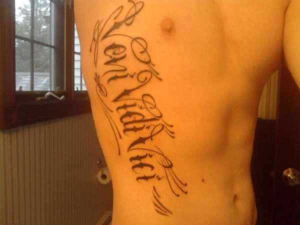 Beautiful And Excellent Veni Vidi Vici Tattoo From TattoosWin.com