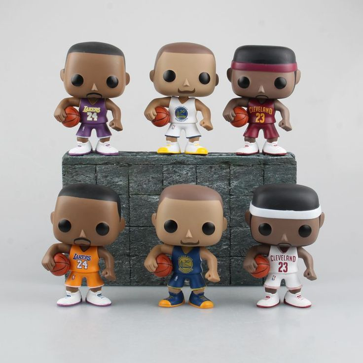 """FUNKO POP Basketball NBA Star KOBE BRYANT/STEPHEN CURRY/LEBRON JAMES PVC Action Figure Model Collection Toy Doll 4"""" 10CM"""