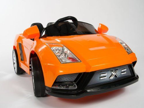 """NEW LAMBORGHINI RACER-X STYLE RIDE ON 12V TWO SPEED BATTERY POWERED KIDS TOY CAR - WITH REMOTE CONTROL 2013 STYLE COLOR ORANGE by ZH. $279.00. Music Buttons. Perfect For 2-5 Years Of Age .Weight Capacity of 75 Lbs.. 1 Speed Forward Plus Reverse .Up to 4 MPH .Working Front Lights .. Adjustable Seat Belt .Foot Pedal Accelerator .Upgraded With 2 Motors.. Rechargeable 12V 7Ah Battery. 2 x 12V Motors . Stickers in the box.. Length: 47"""", Width: 26"""" . Remote Control . MP3 Player Co..."""