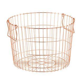 Round Copper Wire Storage Basket