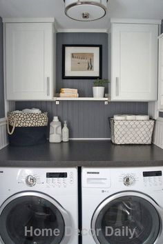 10 Awesome Ideas For Tiny Laundry Spaces Laundry Room Counterlaundry Roomscabinet