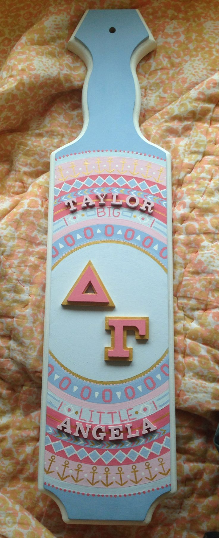 The paddle I made for my amazing big :)