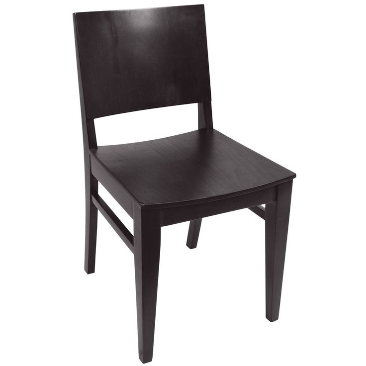 Beautiful BFM Seating SWC305EB EB Dover Ebony Colored Beechwood Side Chair With  Wooden Seat