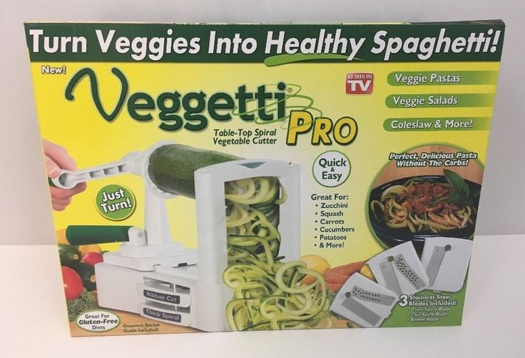 Veggetti Pro Table-Top Spiral Vegetable Cutter. Received as a gift and already own one (and it's awesome.). 14 page recipe book included. | eBay!