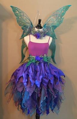 Blues and purple pixie points gauze. Beautiful faerie dress.