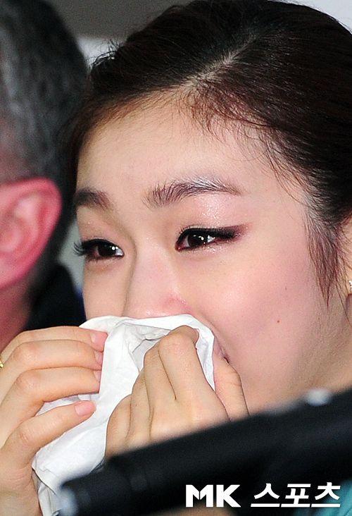 김연아의 눈물 `행복했던 지난달들` [MK포토]