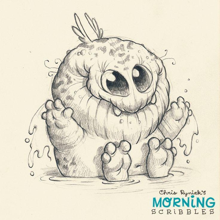 Scribble Monster Drawing : Morning scribbles just plain cool pinterest