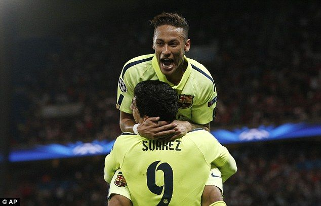 Neymar was Barcelona's most eye-catching forward in the first half of their victory against PSG