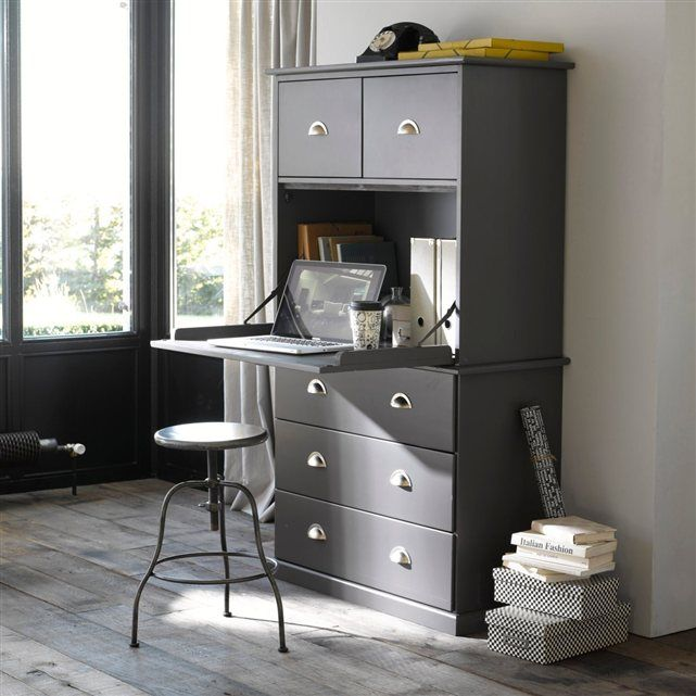 secr taire biblioth que pin massif betta betta. Black Bedroom Furniture Sets. Home Design Ideas